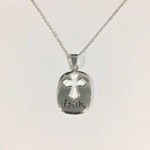 Jewelry - Silver Cross Faith Pendant Necklace